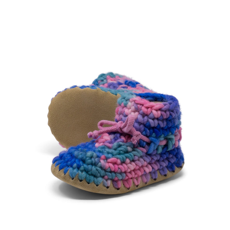 Padraig Cottage - Child Size 11 Slippers Pink Multi