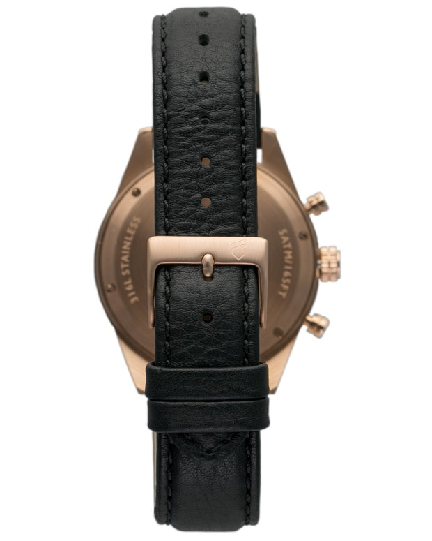 FOSH - The Chrono Rose Gold on Jet Black