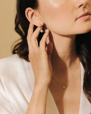 Lover's Tempo - Juno Hoop Earrings Gold/Opal