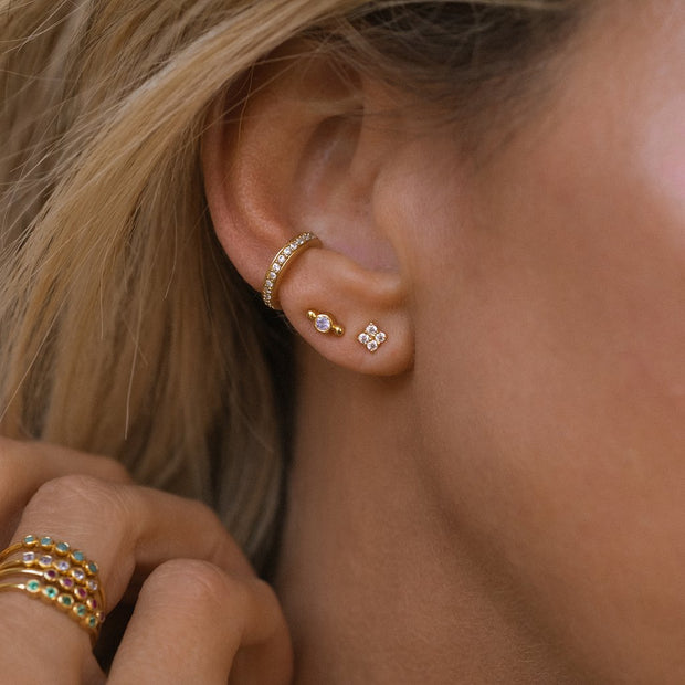Leah Alexandra - Isla Stud Earrings CZ Gold
