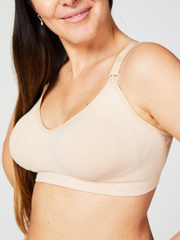 Cake Maternity - Rock Candy Seamless Nursing Bra Beige