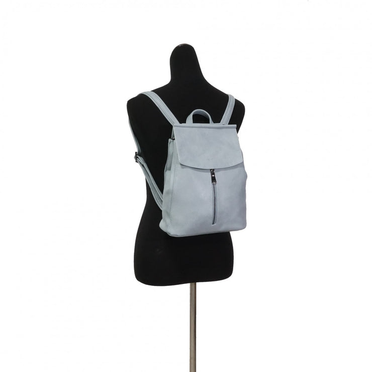 S-Q Chloe Convertible Backpack Blue Grey