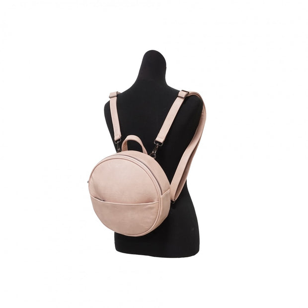 S-Q Jessa Round Convertible Backpack Petal Pink