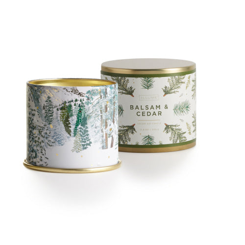 Illume - 11.8oz Vanity Tin Candle Balsam and Cedar
