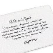 "Pyrrha - Talisman White Light 18"" Sterling Silver"