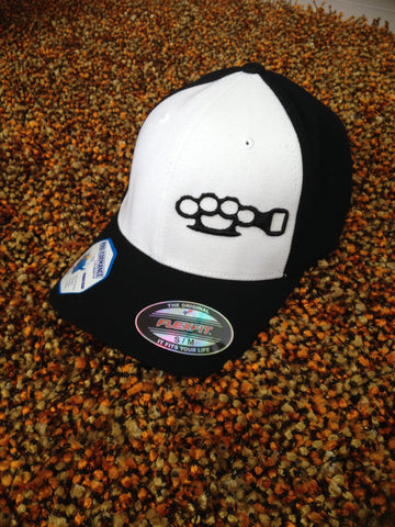 Black w/ White panel Flex Fit Knucklehead hat