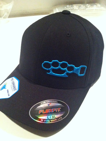 Black Hat / Blue Stitching
