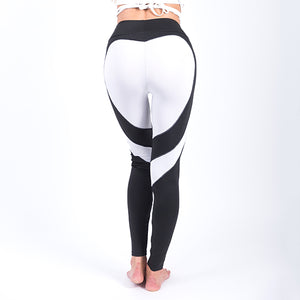 Heart Pattern Sexy Splice Black Leggings Plus Size Fashion Casual Women Pants Harajuku Athleisure Elastic Push Up Sexy Leggings