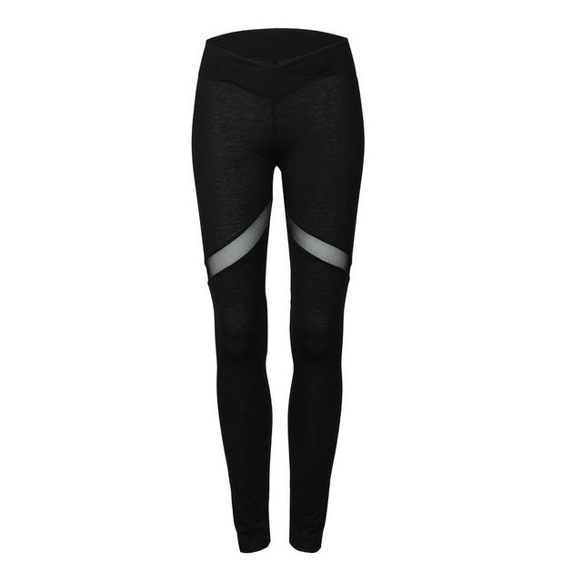 2018 Fashion Heart Pattern Mesh Splice Leggings Harajuku Athleisure Fitness Clothing Elastic Sporting Leggings Women Pants