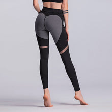 Load image into Gallery viewer, 2018 Fashion Heart Pattern Mesh Splice Leggings Harajuku Athleisure Fitness Clothing  Elastic Sporting Leggings Women Pants