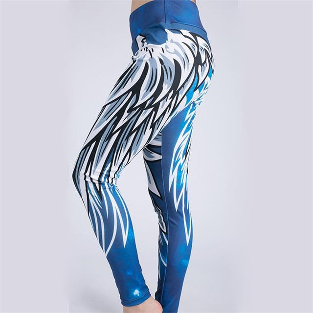 New Harajuku Wing Print Leggins Push Up Fitness Sexy Cartoon 3d Graffiti Women Casual Funnysporting Fashion Athleisure Leggings