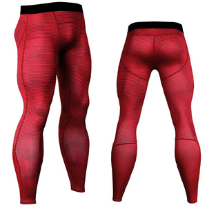Fitness Men Running Tights Print Bodybuilding Crossfit Sports Jogging Leggings Athleisure Sportswear Plus Sizes Elastic Pants