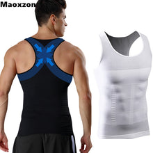 Load image into Gallery viewer, Maoxzon Mens Body Shapers Fitness Tank Tops Sexy Elastic Beauty Abdomen Tight Fitting UnderShirts Slimming Underwear Shape Vests