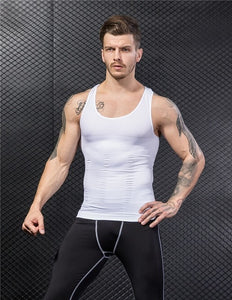Maoxzon Mens Body Shapers Fitness Tank Tops Sexy Elastic Beauty Abdomen Tight Fitting UnderShirts Slimming Underwear Shape Vests