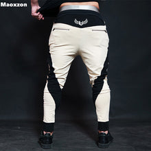 Load image into Gallery viewer, Maoxzon Men's Casual Drawstring Fitness Pants For Male Fashion Patchwork Active Workout Jogger Loose Pencil Trousers Cross-Pants