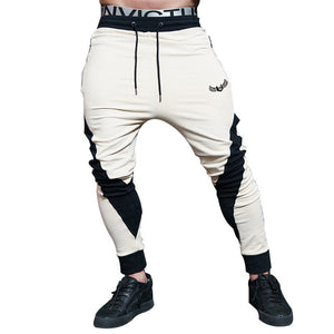 Maoxzon Men's Casual Drawstring Fitness Pants For Male Fashion Patchwork Active Workout Jogger Loose Pencil Trousers Cross-Pants