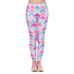 Fashion Colourful Leggings Long Women High Waist Pants Sexy Ladies Athleisure Slim Fitness Leggings