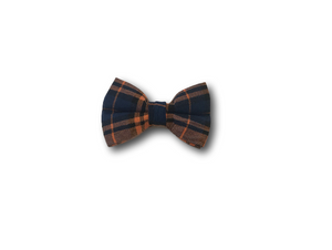 Tartan design dog bow