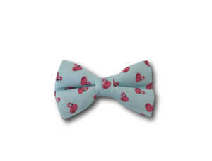 Flamingo design dog bow