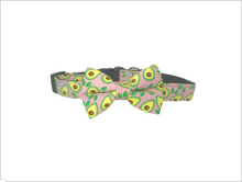 Load image into Gallery viewer, Avocado design dog bow and collar