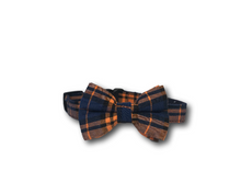 Load image into Gallery viewer, Tartan design dog bow and collar