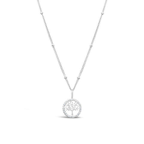 Charm & Chain Necklace Pavé Tree of Life