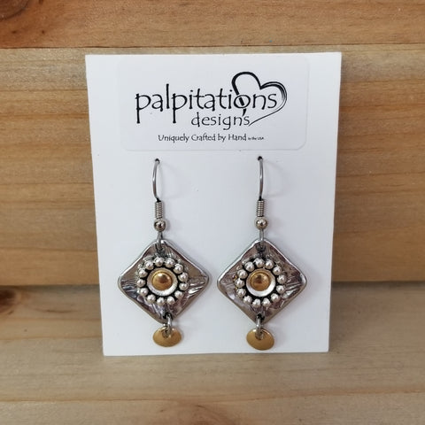Pewter & Bronze Earrings