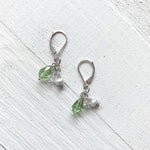 Sterling Silver August Cluster Earring
