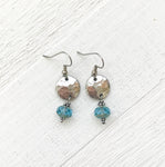 Pewter & Art Glass Earrings