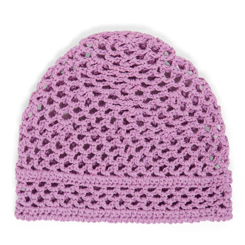 Purple Crochet Baby Hat