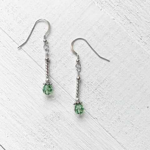 Sterling Silver August Drop Earring