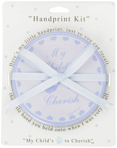 Baby Handprint Keepsake, Blue