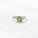 Sterling Silver August CZ Ring