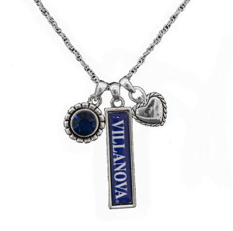 Villanova Wildcats Trifecta Necklace