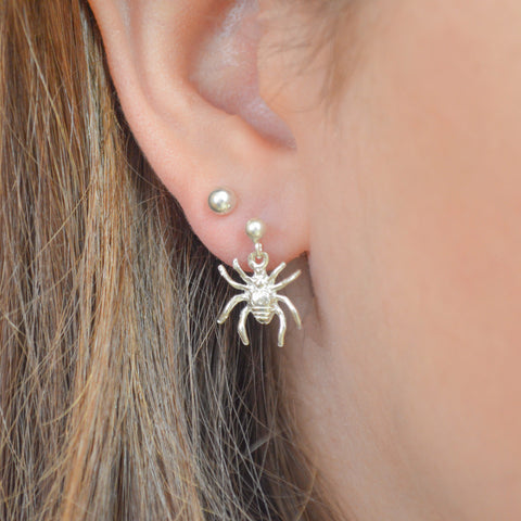 Sterling Silver Spider Earring