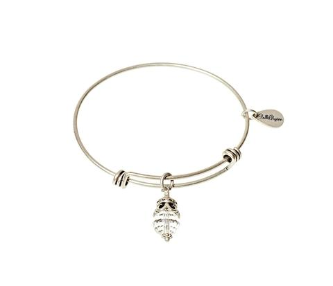 April Birthstone Bangle Charm Bracelet