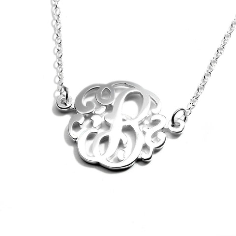 Single Monogram Necklace - 15mm