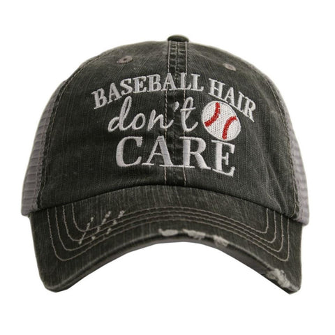 Baseball Hair Don't Care Trucker Hat