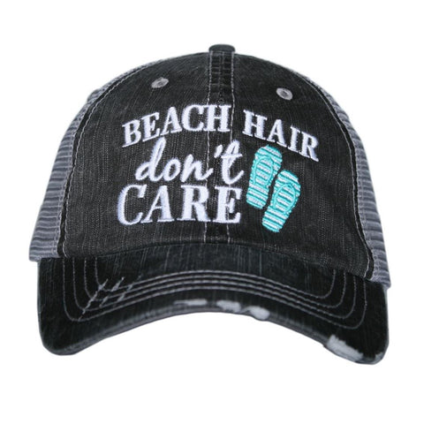 Beach Hair Don't Care Mint Trucker Hat