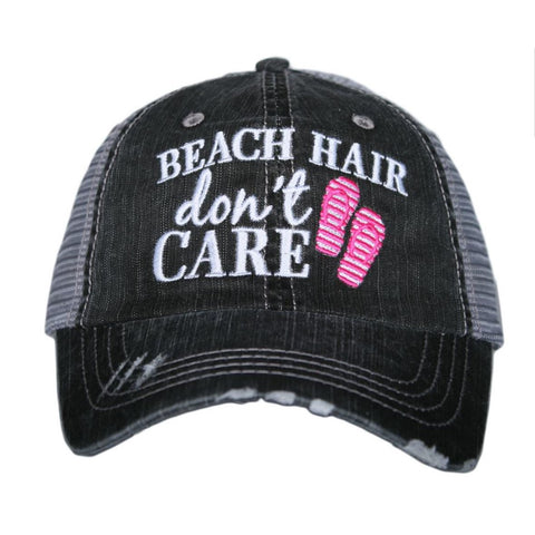 Beach Hair Don't Care Pink Trucker Hat
