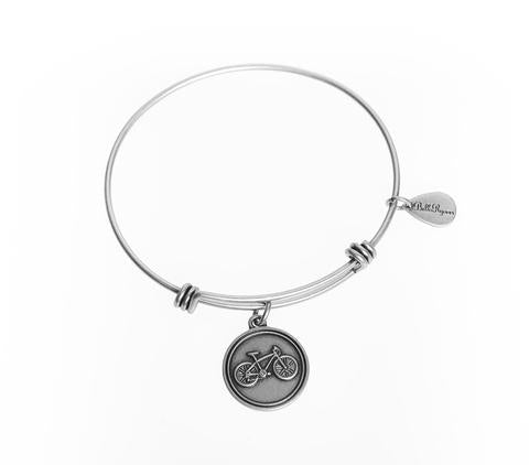 Bicycle Bangle Charm Bracelet