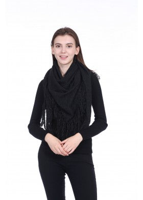 Black Triangle Tassle Scarf