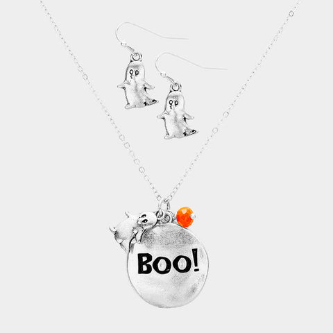 Boo! Ghost Necklace Set