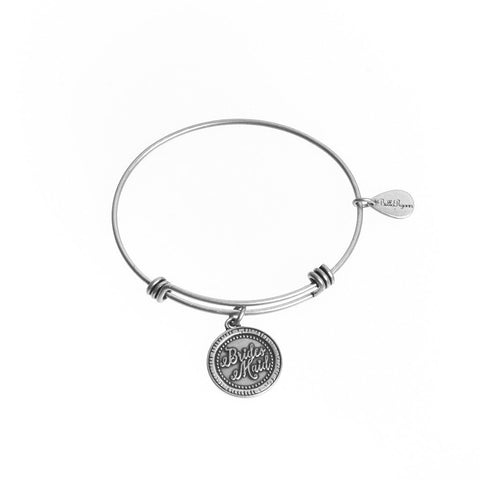 Bridesmaid Bangle Charm Bracelet