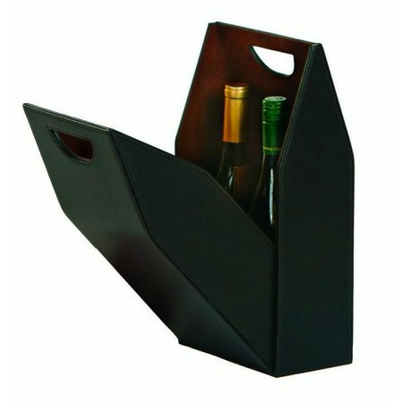Brown Double Bottle Wine Carrier