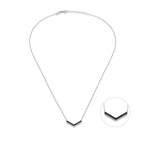 Chevron Sterling Silver Necklace