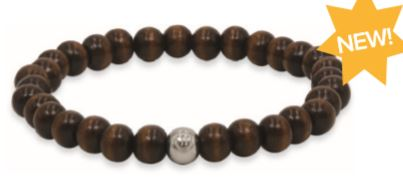 Dark Dutch Elm Wood Unisex Bracelet