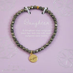 Daughter Pyrite Crystal Stretch Bracelet