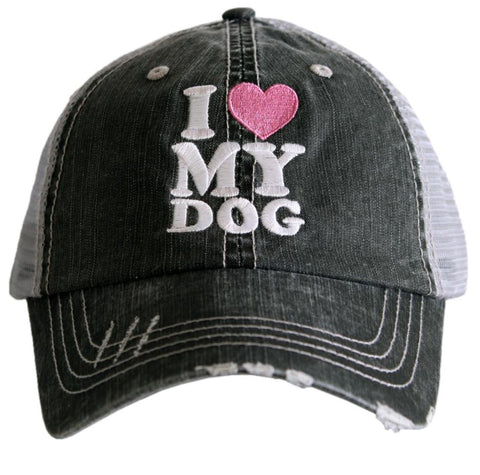 I Love My Dog Trucker Hat