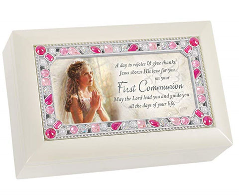 First Communion Girl Music Box